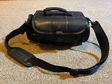 Genuine Vintage Sony Leather Video Camera Camcorder Bag Case With Shoulder Strap