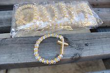 new 12 glass cross bracelet wedding baptism communion quinceanera party favors