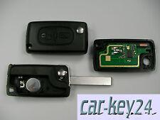 CITROEN C2 C3 C4 C5 C6 C8 Berlingo Fernbedienung 2 Tasten 433 mhz ID46 T14