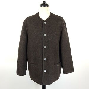 Giesswein Walkjacke Herren Gr. 52 Braun Wolle Trachtenjacke Jacke