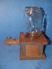 Handmade Glass Jar Wood Candy Peanut M&M Gumball Machine Dispenser