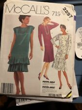 McCall's 2297 Sewing Pattern  UNCUT Size 8 Misses dress 1985