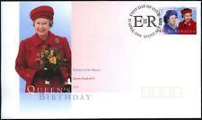 Australia 1999 reinas QEII Cumpleaños FDC Primer Día Cubierta #C45892