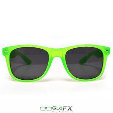 GloFX Regular Sunglasses - Glow Green Glow in the Dark Rave Light  Goggles