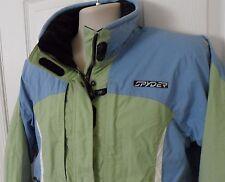 Womens Spyder Axys Ski Snowboard Jacket Entrant GII Blue Green Size 8