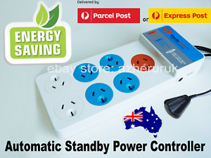 7 Outlet Energy Saving Automatic Standby Power Controller Strip Surge PowerBoard
