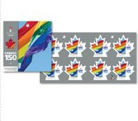 MARRIAGE EQUALITY GAY PRIDE CANADIAN FIRST-CLASS POSTAGE BK OF 8 STAMPS, GAY INT