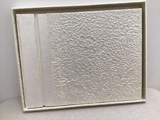 Flower Embossed Wedding Guest Book In A Box Cream Colour Vintage Style