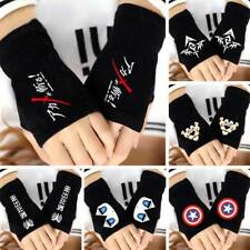 Anime Akame ga KILL! SOX Remilia Scarlet Fingerless Gloves Knit Mittens Cosplay