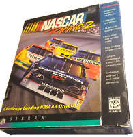 NASCAR RACING 2 VTG 90s Big Box PC VIDEO GAME 1996 Sierra CD-ROM Win 95 CIB !