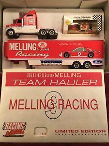 BILL ELLIOTT 1983 #9 Melling Racing RCCA 1/64 Transporter Hauler & Car SET MINT