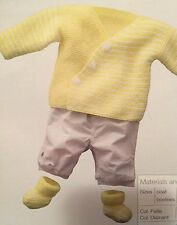 Baby Striped Matinee Set Easy Knitting Pattern