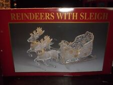 REINDEERS WITH SLEIGH - NEW - OPENED TO LOOK AT & RETURND TO BOX - NOT DISPLAYED