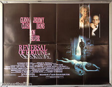 Cinema Poster: REVERSAL OF FORTUNE 1991 (Quad) Jeremy Irons Glenn Close