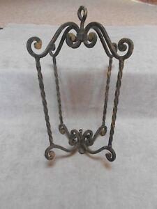 Vintage FRENCH wrought iron Lantern FRAME BODY