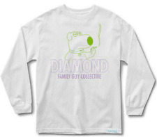 Diamond Supply Co. Mens L/S T-Shirt FAMILY GUY Brian Griffin WEED Funny S-XL $40