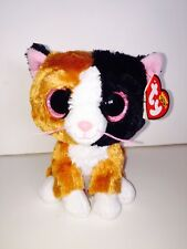 "TY TAURI CALICO CAT 6"" BEANIE BOOS-NEW, MINT TAG-IN HAND & SHIPPING NOW*SO SOFT*"
