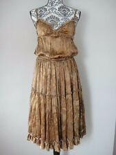 DOLCE & GABBANA Dream Dress with Train Silk size IT 44, UK 10/12 Italian Couture