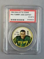 1964 Nalley's Coins #43 Tommy-Joe Coffey Eskimos PSA 6 EX-MT