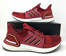 Adidas UltraBoost 19 Maroon Red/White Mens Running Ultra Boost Shoe G27509 NEW