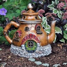 Home Decor Fairy Garden Tea Pot House Outdoor Indoor