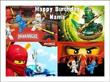 LEGO NINJAGO A4 (25.5cm x 19cm) EDIBLE ICING IMAGE CAKE TOPPER #3