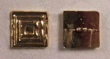 "Set of 6 JHB Gold Metal Buttons Stacked Squares 15/16 X 15/16"" 24 X 24 mm lyk033"