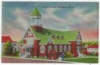 Churches in Maine York, Rockland, Old Town Lot of Three Vintage Unused Postcards