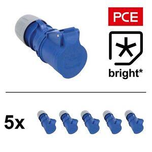 5 x 16 Amp 3pin 1PH Blue Socket 16A Commando, Caravan Camping Hook Up Generator