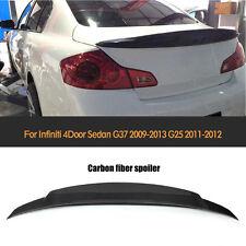 Carbon Fiber Rear Boot Spoiler Wing Fit for Infiniti G25 11-12 G37 09-13 Sedan