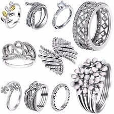 Hot Design Luxury Zircon Gemstone 925 Silver Fashion Wedding Jewelry New Rings