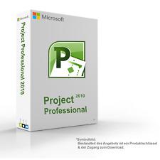MS Microsoft Project 2010 Professional 1PC Original 32/64-Bit - Vollversion