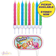 SHOPKINS PARTY SUPPLIES 8 CANDLES & BIRTHDAY CAKE TOPPER CUPCAKE DECORATIONS