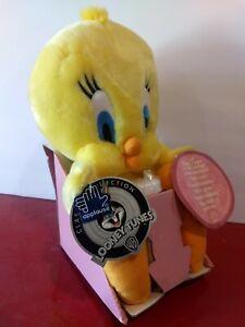2000 Looney Toons Cartoon Talking Plush Tweety Bird & bubbles 5 Sayings