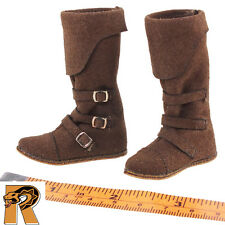 Templar Knights - Leather Boots (for Pegs) - 1/6 Scale - COO Action Figures