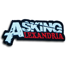 Asking Alexandria 1 Patch Iron on Heavy Metal Punk Band Rider Core Vest Logo V2