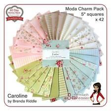 Moda Caroline Charm Pack Squares Quilt Fabric vintage shabby-chic floral pastel