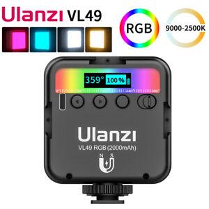 Ulanzi VL49 Mini RGB LED Video Light 2500K-9000K Magnetic Mini Fill Light Extend