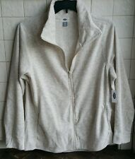Old Navy Woman FLEECE JACKET Size XXL Winter White with FULL Zipper Front NEW