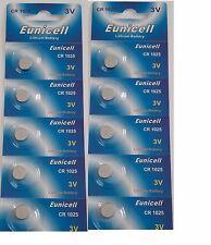 EUNICELL - Lot de 10 Piles Bouton CR1025 Lithium 3V