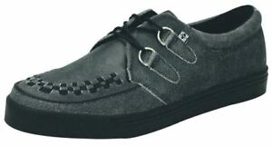 TUK A8594 Charcoal Leather Mens Womens Unisex Creepers Shoes Boots Trainers
