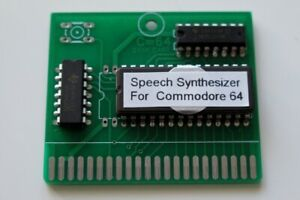 Speech Synthesizer Cartridge for the Commodore 64. Make your C64 speak. NEW.