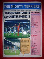 Huddersfield Town 2 Manchester United 1 - 2017 - souvenir print