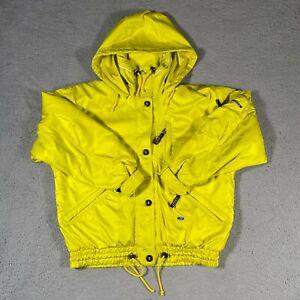 VINTAGE Bogner Coat Womens 8 Yellow Sports Waterproof Snowboard Ski Jacket Hood