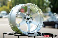 17x8.5 Inch +30 ESR SR07 5x100 Machined Silver Wheels Rims FRS BRZ TC A3 WRX VW