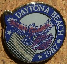 Harley Pin Daytona Beach1987 Bar & Shield Eagle FREE SHIPPING