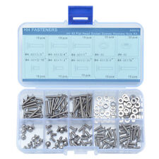 #4-40 Stainless Steel Hex Socket Head Flat Screws Hex Nuts Washers Assortment