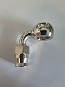 Raccordo con occhiello 90° acciaio recuperabile per tubo freno Brembo