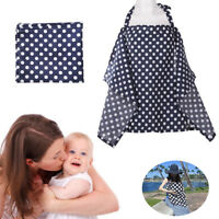 Baby Mum Breastfeeding Nursing Poncho Cover Up Udder Covers Cotton Blanket Shawl