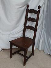 Antique Oak Vanity or desk Chair - Highly Carved - Fancy